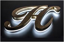 LEDサイン:クリアライト フレームレス チャンネル文字 看板 導光板