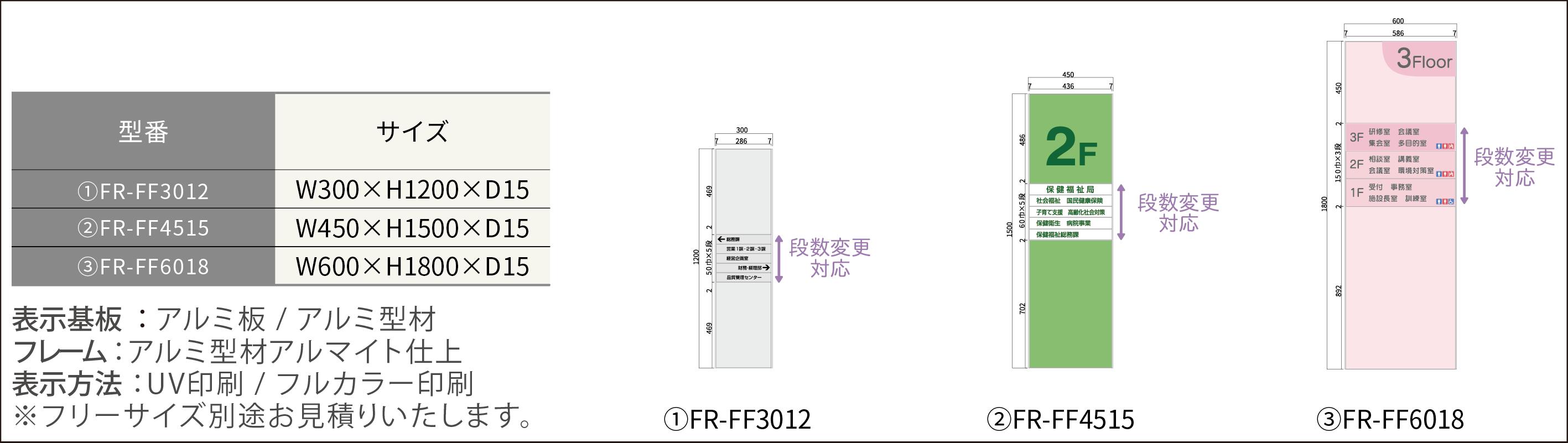 ルームサイン:案内板/FR-Fプレート