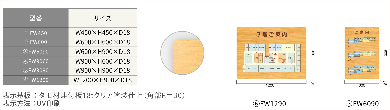 ルームサイン:案内板/木製 タモプレート型