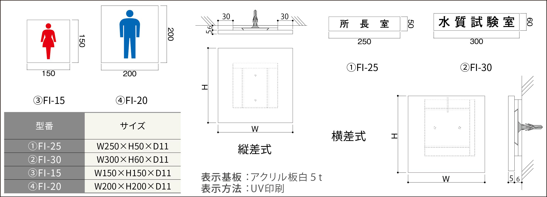 ルームサイン:国土交通省プレート正面型