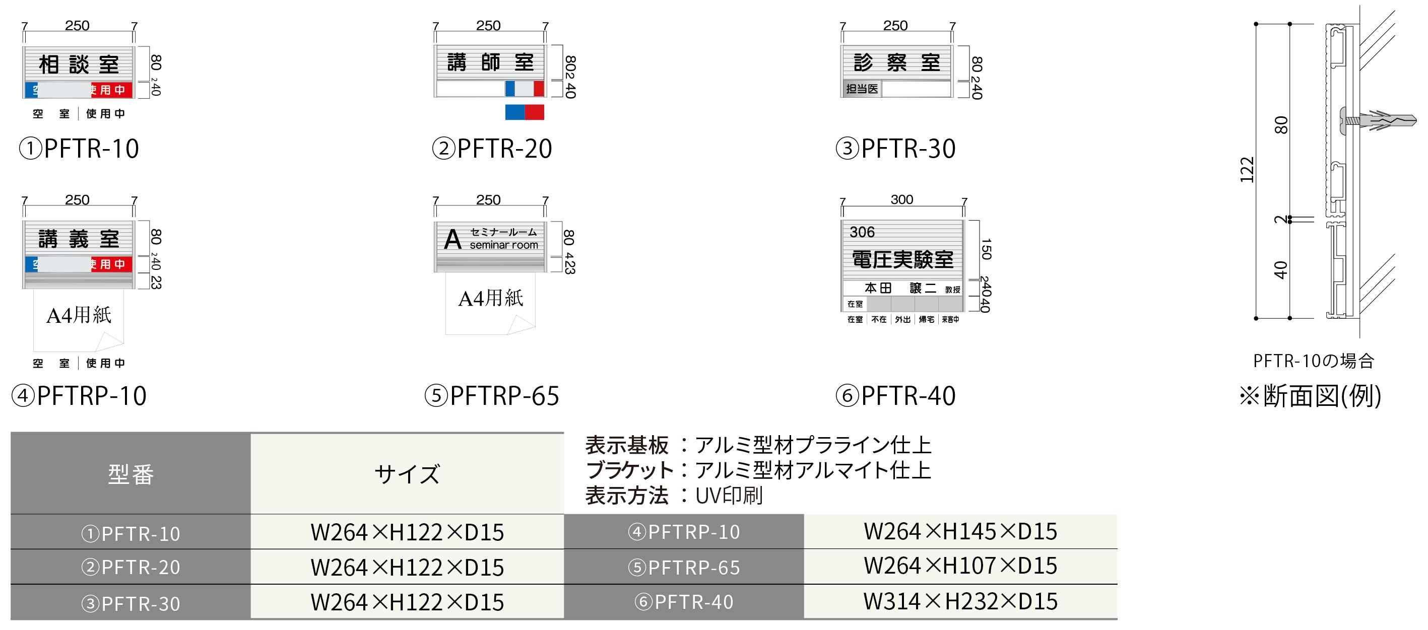 ハッケンルームサイン プララインプレート正面型:在空表示付き